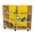 Click here for more Curve Cabinet with Yellow Acrylic Back by Whitney Brothers by Worthington
