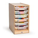 Clear Tray Rolling Storage Center by Whitney Brothers