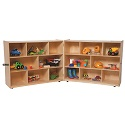 Folding Storage Units by Wood Designs