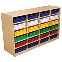 "Click here for more 3"" Letter Tray Mobile Storage Units w/ 12, 16 or 24 Trays by Wood Designs by Worthington"