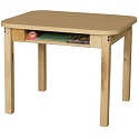 Student Desks w/ Hardwood Legs by Wood Designs