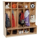 Click here for more Five Section Seat Locker by Wood Designs by Worthington