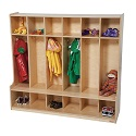 Click here for more Six Section Seat Locker by Wood Designs by Worthington