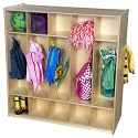 Click here for more 10 Section Double Locker by Wood Designs by Worthington