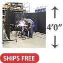 Click here for more Portable Welding Screens (4' H) by Screenflex by Worthington