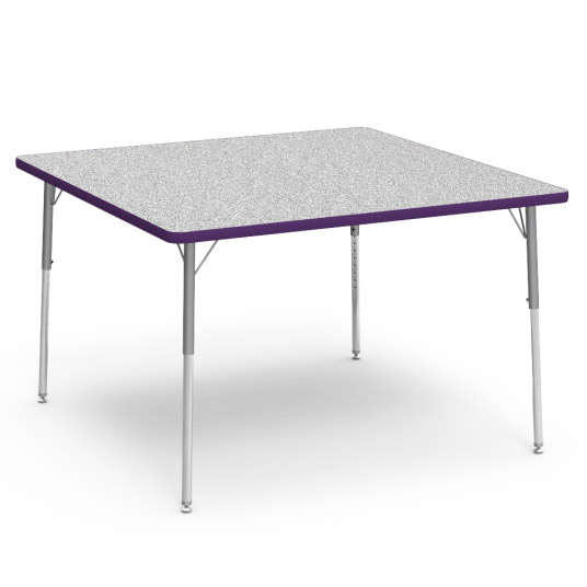 Virco Color Banded Activity Table With Gray Nebula Top 48