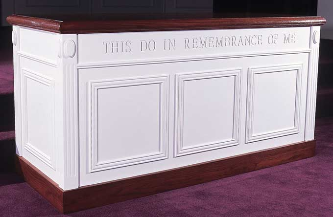 tct605-32hx60wx24d-white-w-35-light-oak-top-colonial-style-closed-communion-table