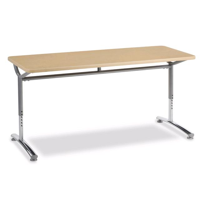 Virco Text Seminar Training Table Adjustable Height X - Adjustable training table
