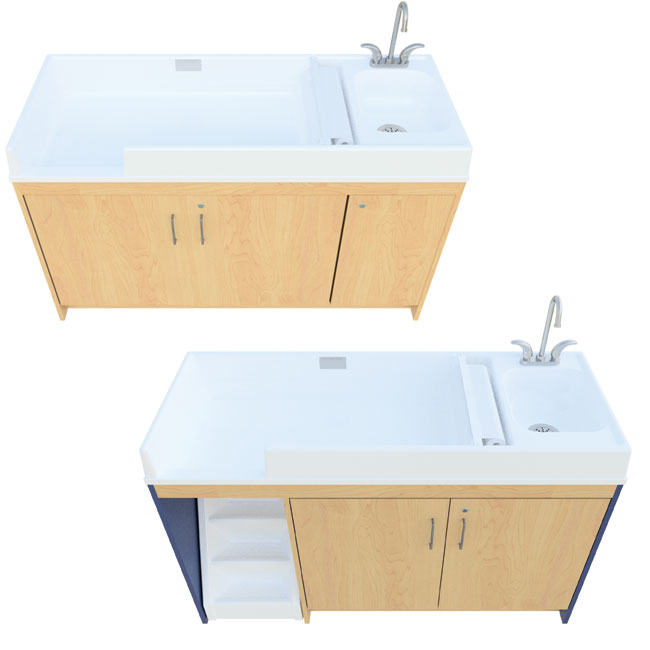 All Changing Table With Sink By Tot Mate Options