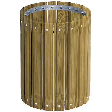 tr-32-pt-pressure-treated-round-outdoor-trash-receptacle