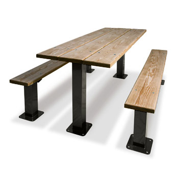 Multi-Pedestal Picnic Table