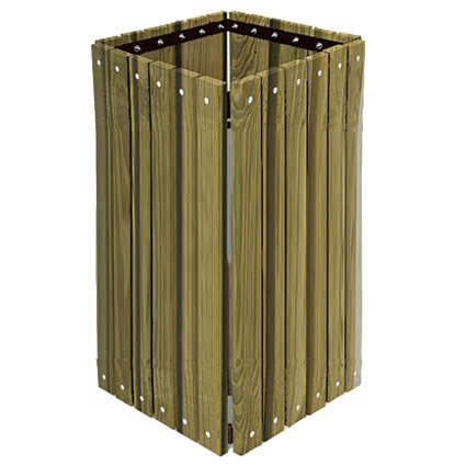 trsq-32-pt-pressure-treated-square-outdoor-trash-receptacle