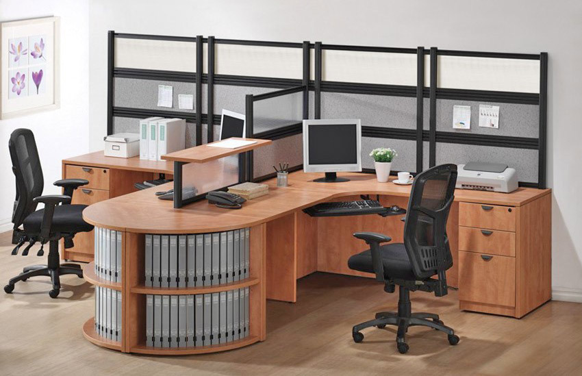 Office Desk for two users and ample storage space
