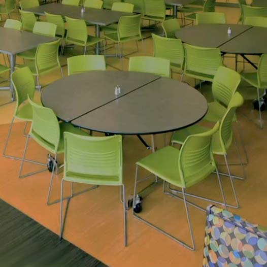 Uniframe Folding Cafeteria Shape Table 60 Round By KI UFRD5