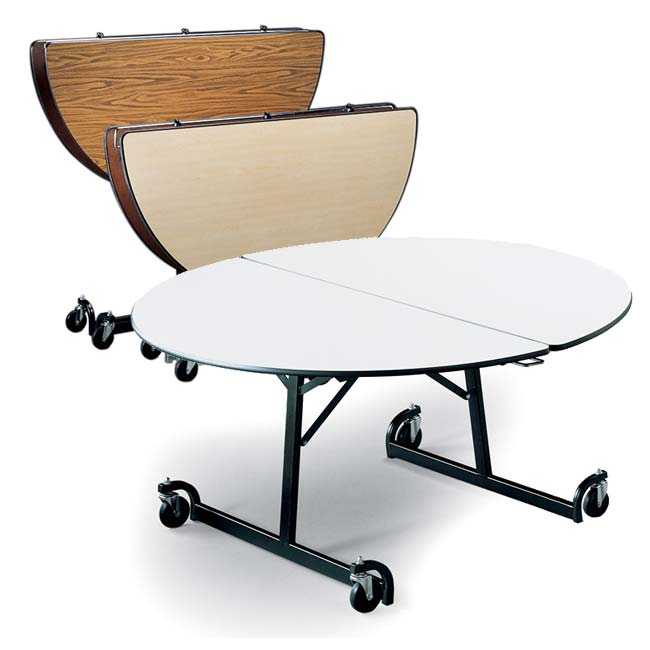 all uniframe folding cafeteria shape tableski options | tables