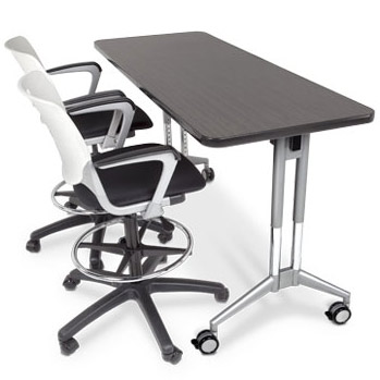 Smith System Uxl Adjustable Height Nest And Fold Training Table - Adjustable training table