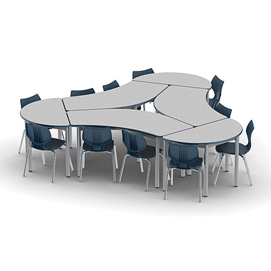 UXL Crescent Table by Smith System