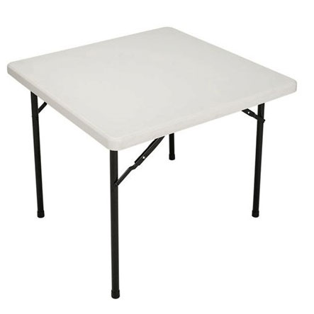 Attractive Vl3636blwh Valuelite Blow Molded Folding Table 36 Square