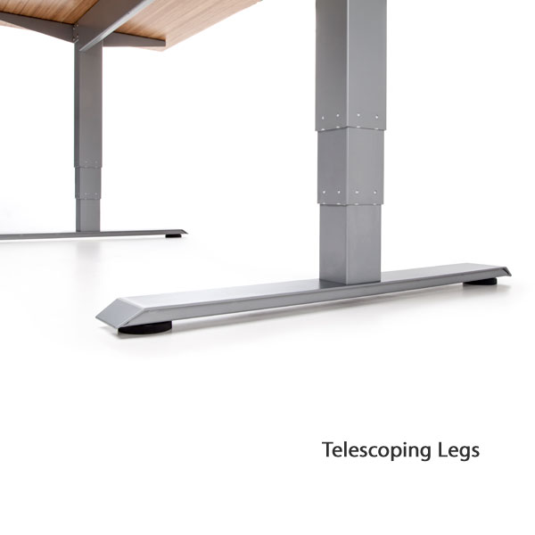 Ofm motorized height adjustable stand up desk 60 wide - Telescopic table legs ...