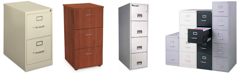 Examples of Vertical File Cabinets