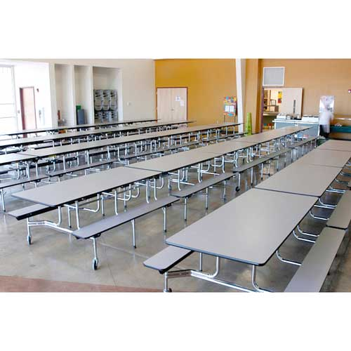 school lunch table. Mobile Bench Cafeteria Table (12\u0027 L X 29\ School Lunch