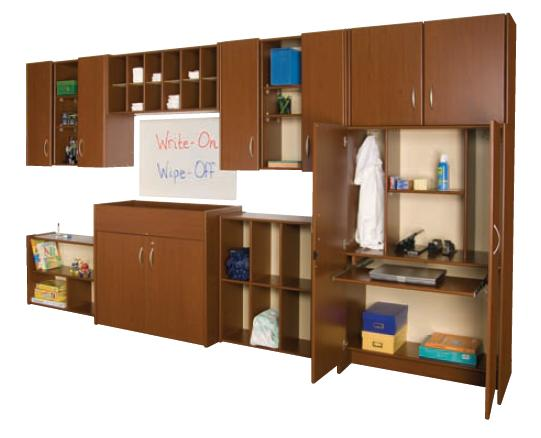 Example of Preschool Wall Storage System