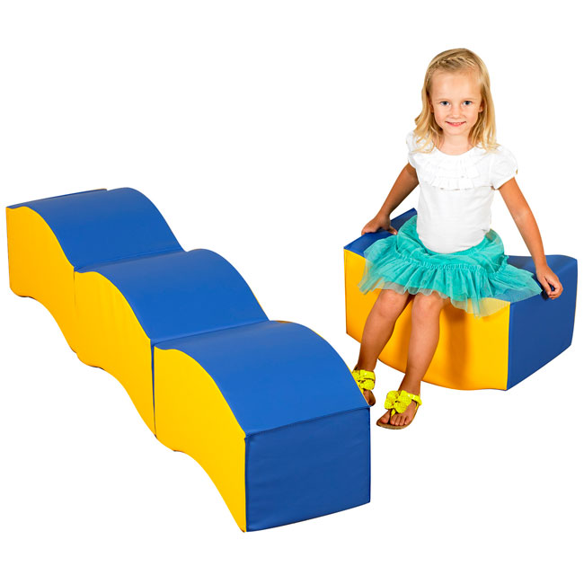 stock childrens factory cf805015 wave soft seating set of 4 - Childrens Factory