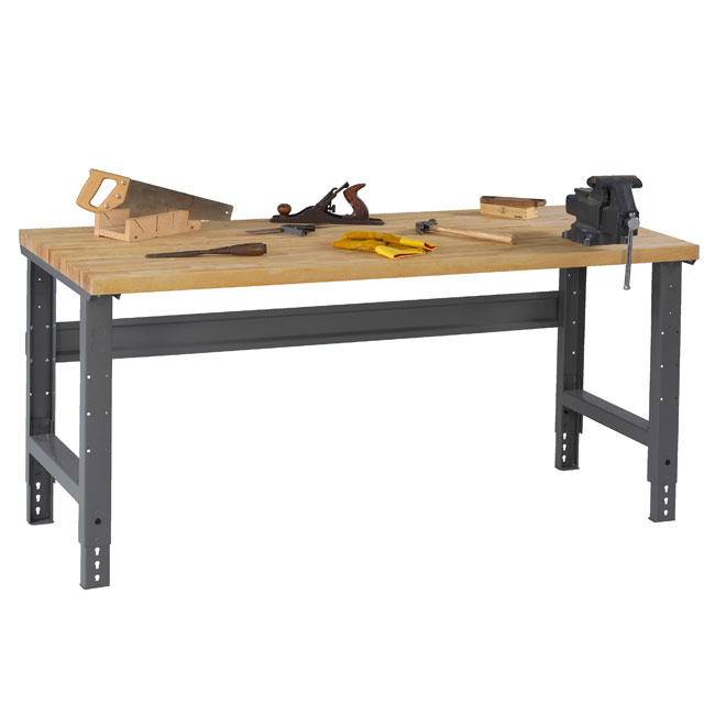hardwood-top-workbenches-with-adjustable-legs-by-tennsco