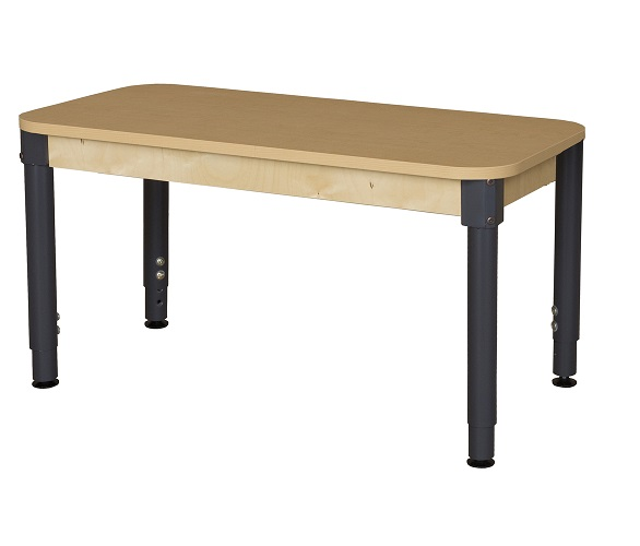 Wd2448hpla Activity Table W Adjustable Legs