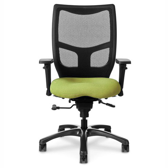 office master grade 1 fabric memory foam seat & mesh back yes