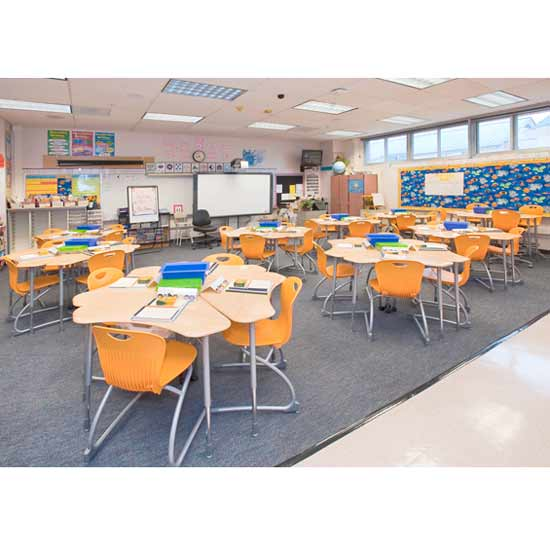 Modular Seating Arrangement Classroom ~ Virco modular desk w out book box zboomm open front
