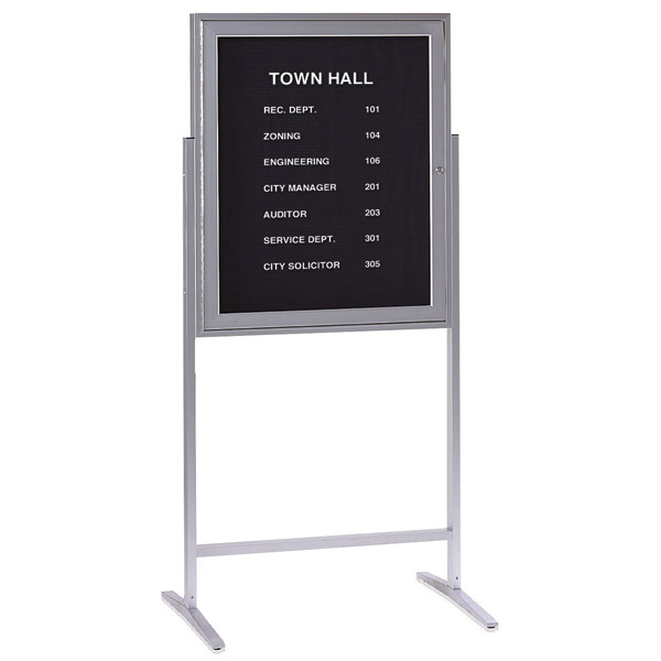 Satin Aluminum Sentry Message Center by Ghent