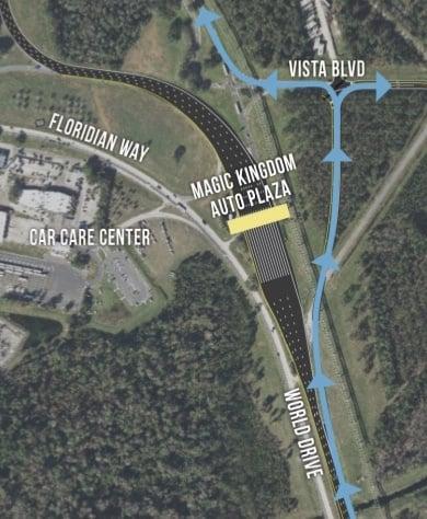 New Ramp Allowing Magic Kingdom Resort Guests to Skip Toll Plaza Opens November 14
