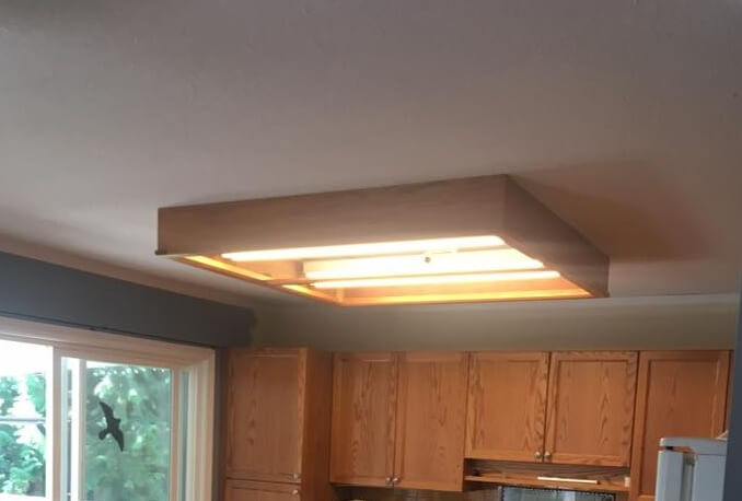 Kitchen Lighting - BEFORE