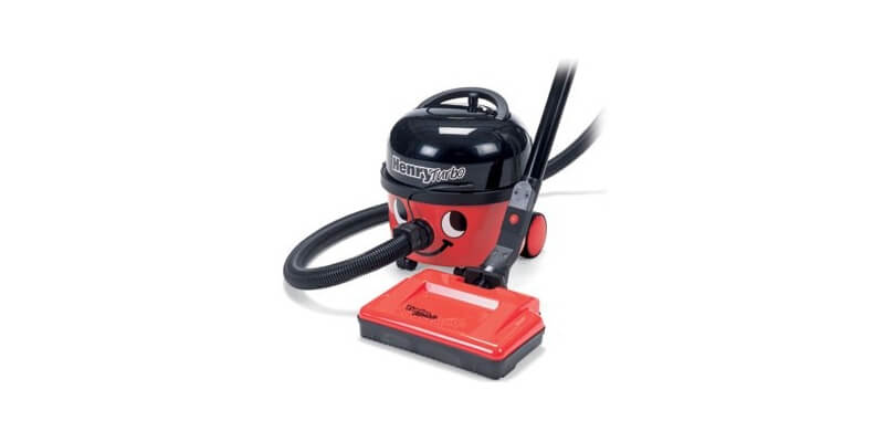 Numatic Henry Turbo HHR200T - Dry vac. with all of the standard Henry features plus 24volt turbo electric self-adjusting power brush. Particularly useful in carpeted homes where pets are kept.