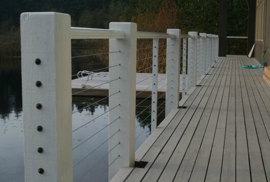 Aluminum, Composite or Wood Railings