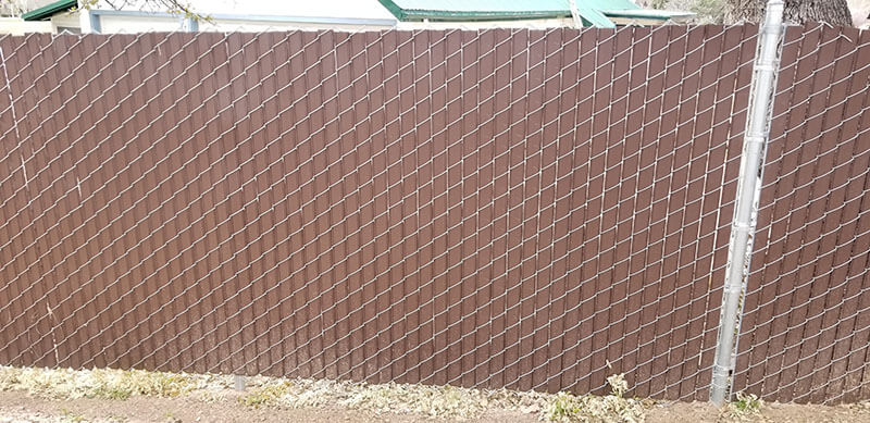 Chain Link with Slats
