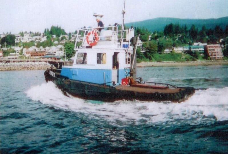 Tugs, Barge & Crane