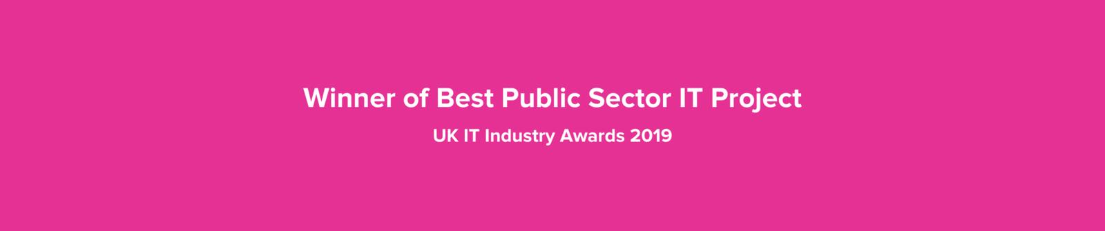 Winner of best public sector it project %281%29