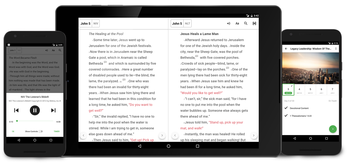 Get the newest update to the Bible App for Android