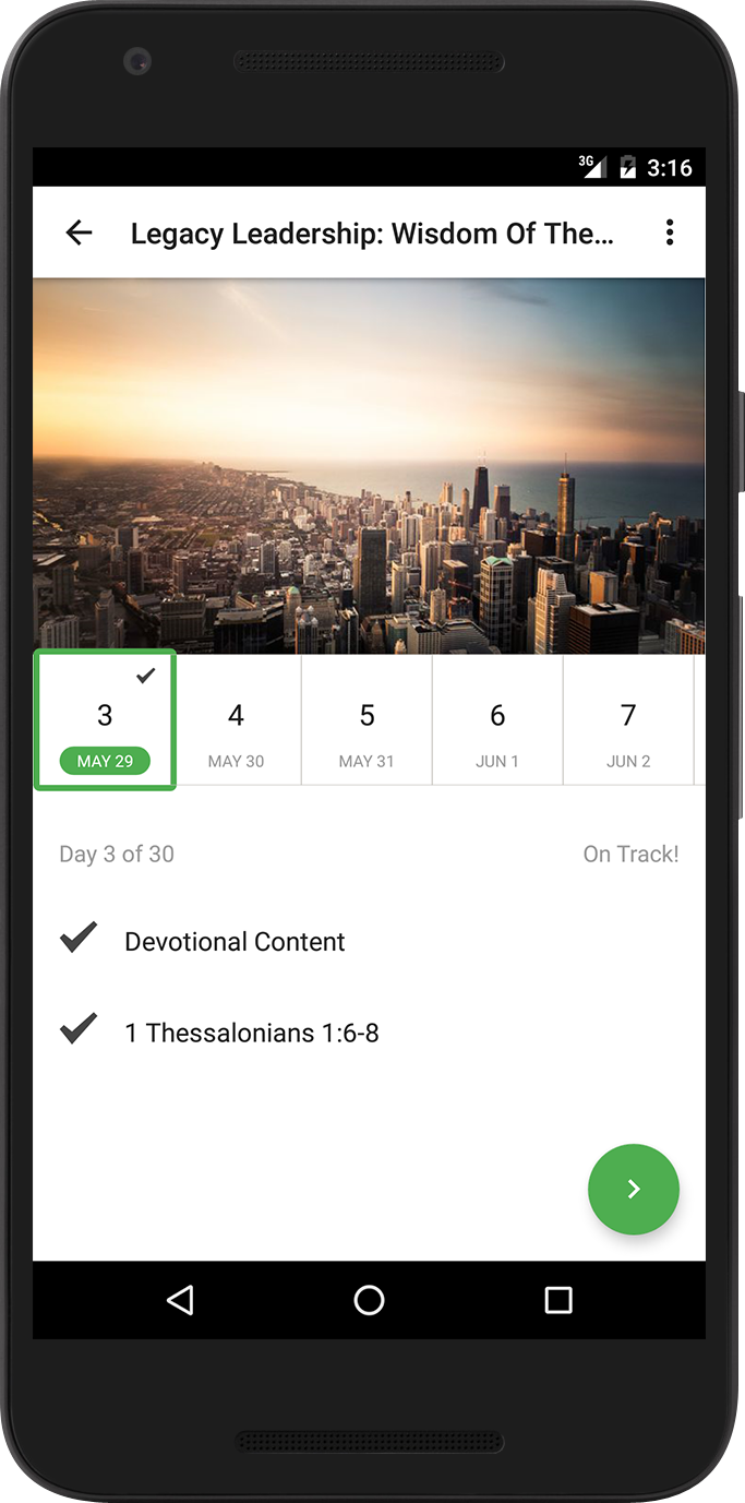 Plan 'Day' in the new Bible App for Android