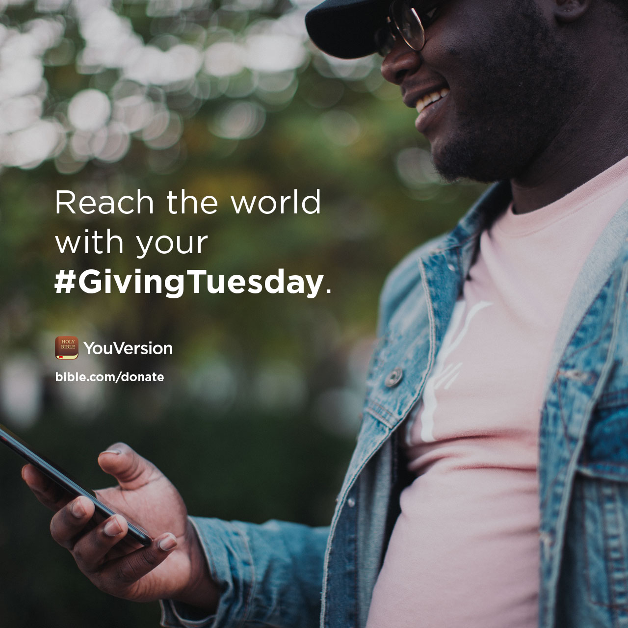 Reach the world with your #GivingTuesday. bible.com/donate