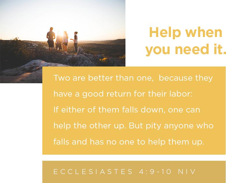 Ecclesiastes 4:9-10 NIV