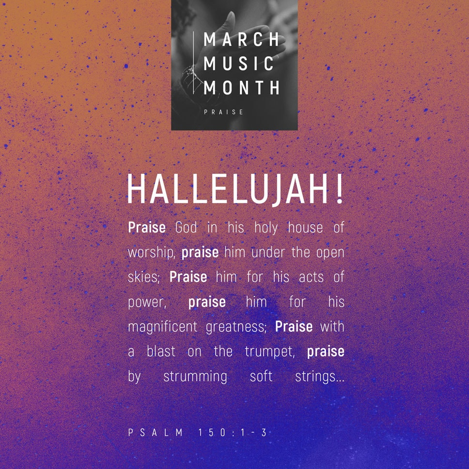 March Music Month Verse Image for Psalm 150