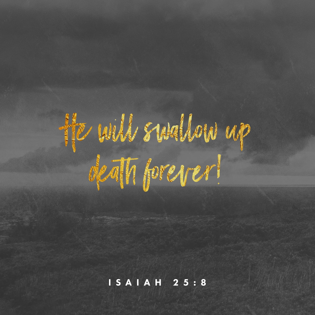 Verse Image: Isaiah 25:8, New Living Translation
