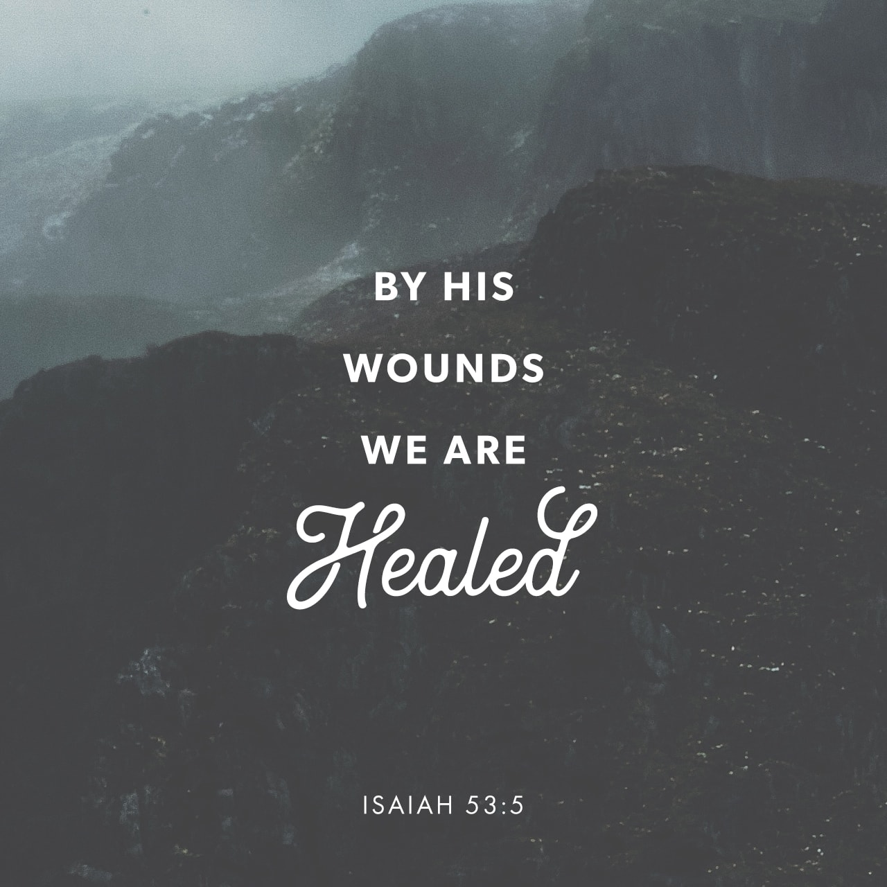 Verse Image: Isaiah 53:5, New International Version