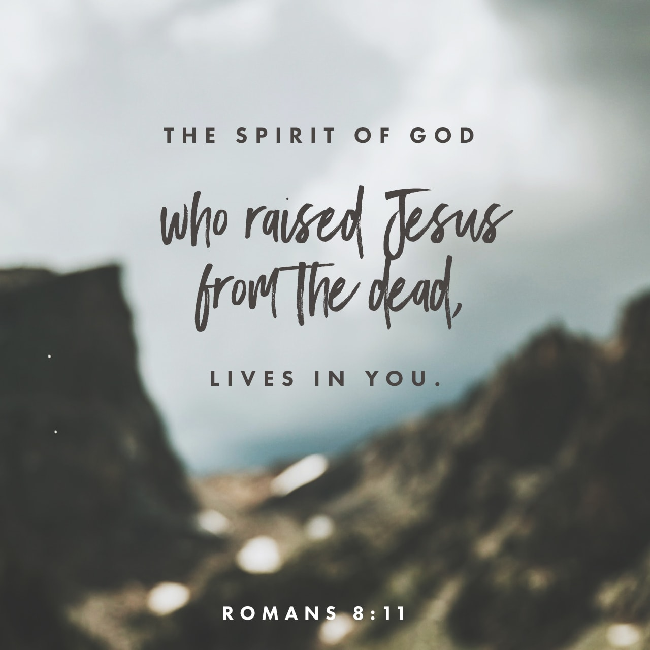 Verse Image: Romans 8:11, New Living Translation