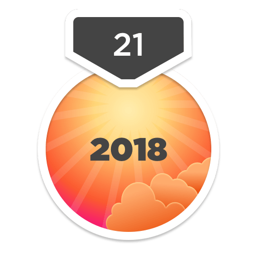 2018 21-Day Challenge Badge