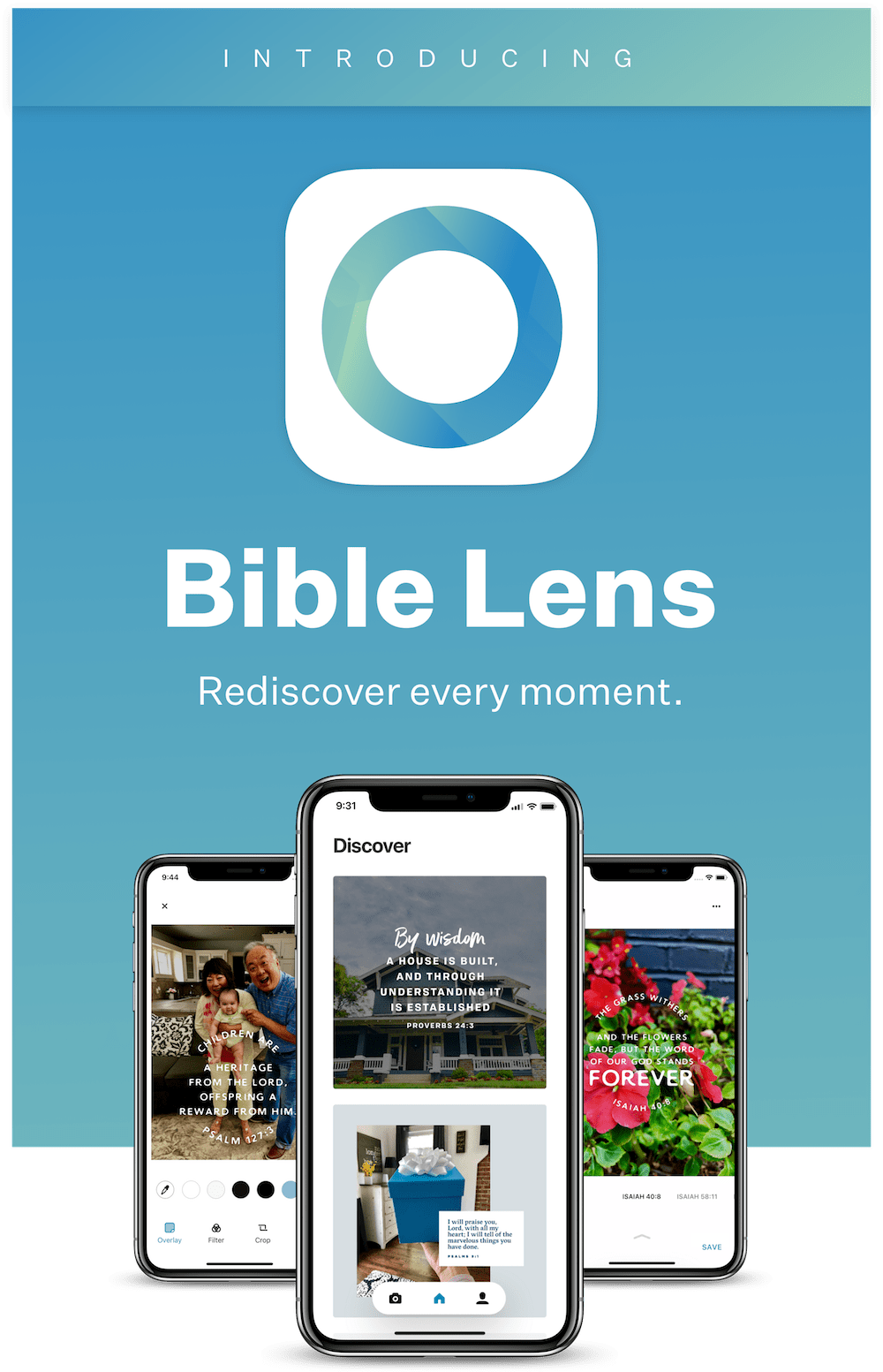 Introducing Bible Lens - Rediscover every moment.
