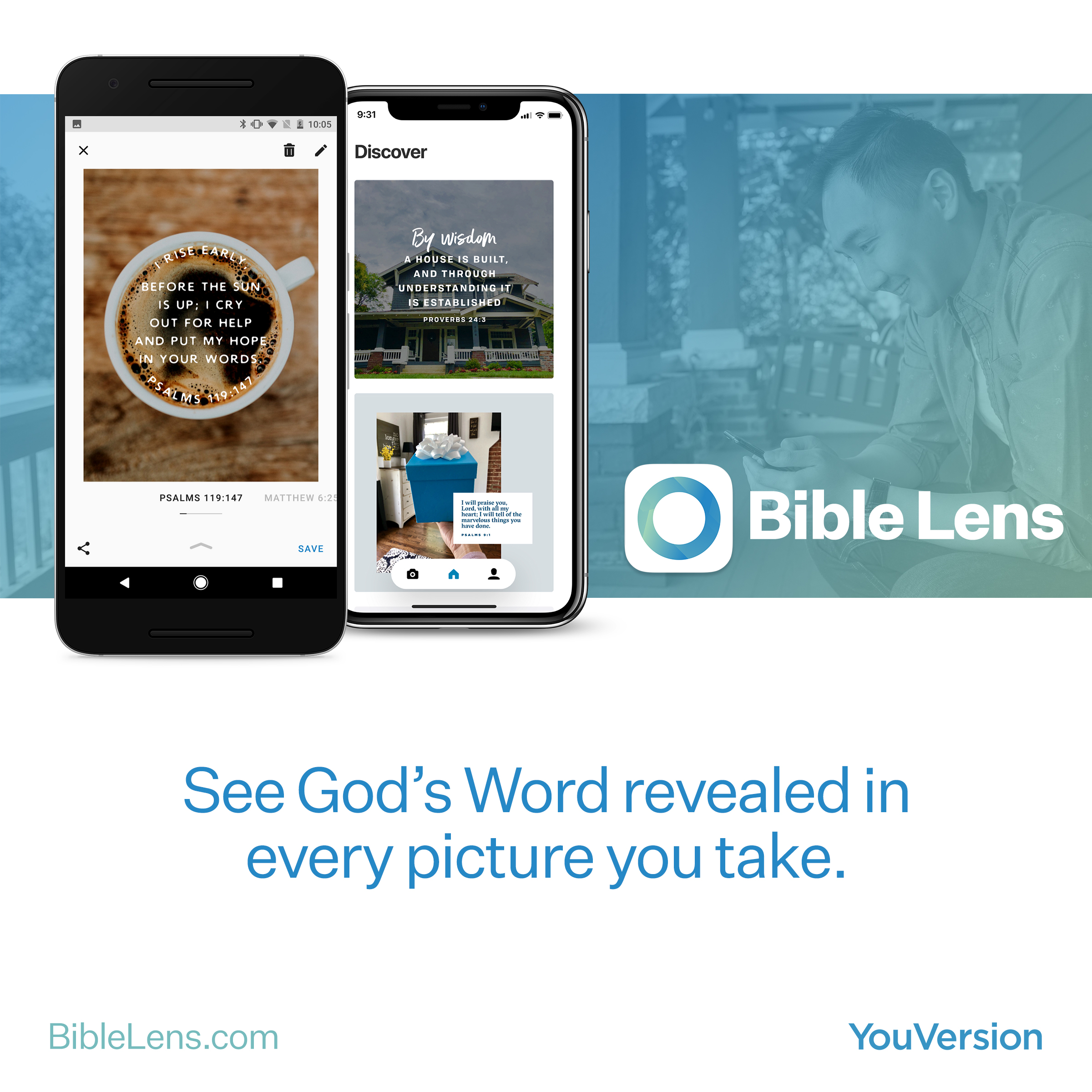 Bible Lens - See God's Word revealed in every picture you take.